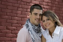 Attractive couple smile Royalty Free Stock Photography