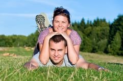 Attractive couple smiling Stock Image