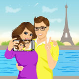 Attractive couple taking selfie photo Royalty Free Stock Photo