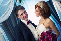 attractive couple on their wedding Royalty Free Stock Photos