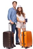 Attractive couple of tourist Stock Images