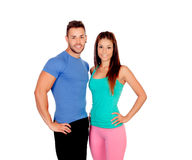 Attractive couple training Royalty Free Stock Image