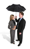 Attractive Couple Under Umbrella Royalty Free Stock Photos