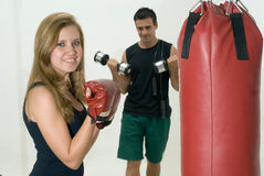 Attractive Couple Working Out Royalty Free Stock Photos
