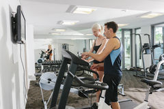 Couple in gym Stock Image