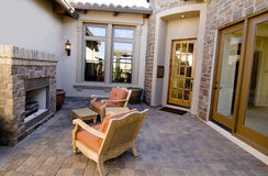 Attractive courtyard entrance stock image