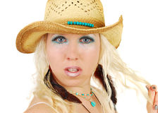 An attractive cowgirl makeup Stock Photography