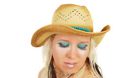 An attractive cowgirl makeup Royalty Free Stock Photos