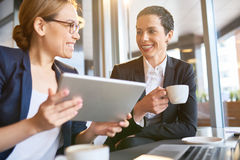 Attractive Coworkers Having Coffee Break royalty free stock photography