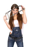 Attractive Craftswoman Holding Stock Photography