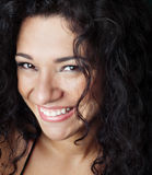 Attractive curly haired woman Royalty Free Stock Photography