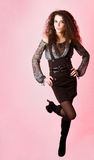 Attractive curly young woman Royalty Free Stock Images