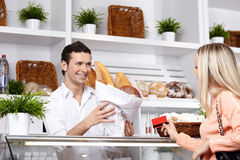 The attractive customer Stock Image