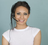Attractive customer sales woman Royalty Free Stock Images