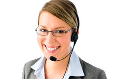 Attractive customer service agent Stock Photo