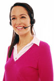 Attractive customer service lady Stock Images