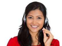 Attractive customer service representative Royalty Free Stock Photos