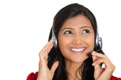 Attractive customer service representative Stock Image