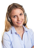 Attractive customer service woman royalty free stock photography