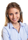 Attractive customer service woman looking at camera Stock Photos