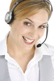 Attractive Customer Services Representative Stock Photo