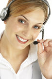 Attractive Customer Services Representative. Wearing Headset Stock Images