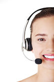 Attractive customer support representative Royalty Free Stock Photography