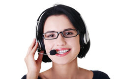 Attractive customer support representative Stock Image