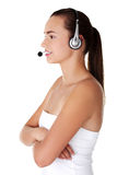 Attractive customer support representative Stock Photo