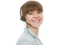 Attractive Customer Support Representative Royalty Free Stock Images