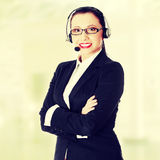 Attractive customer support representative Stock Images