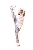 Attractive dancer doing the splits on one leg Stock Photography
