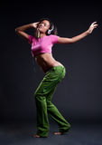 Attractive dancing woman Royalty Free Stock Photo