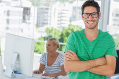 Attractive designer standing in his office Royalty Free Stock Photo