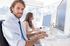 Attractive designer at work Royalty Free Stock Images