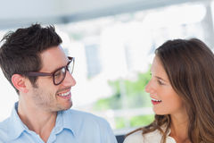 Attractive designers looking at each other Stock Photography