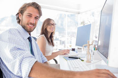 Attractive designers at work Royalty Free Stock Photography