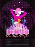 Attractive disco party poster design Stock Photo