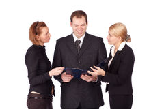 An attractive, diverse business team. Isolated over white background Stock Photography