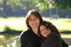 Attractive diverse couple royalty free stock photography