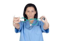 Attractive doctor woman Royalty Free Stock Image
