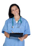 Attractive doctor woman signing Stock Photos