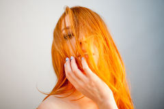 Attractive dreammy portrait of redhead woman in soft focus Royalty Free Stock Photo