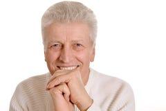 Attractive elderly man Stock Photos