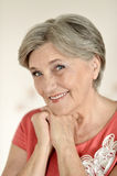 Attractive an elderly woman Royalty Free Stock Photography