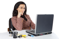 Attractive and elegant business woman in the office Royalty Free Stock Photos