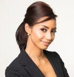 Attractive elegant Business woman smiling stock photos
