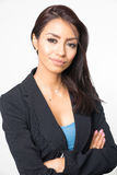 Attractive elegant Business woman smiling royalty free stock photo