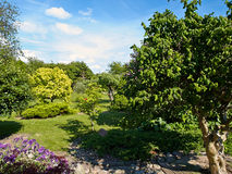 Attractive English Style Formal Garden Royalty Free Stock Photography