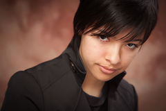 Attractive Ethic Girl Poses for Portrait. Attractive Ethic Girl Poses for Her Portrait royalty free stock image